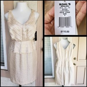 $110 peplum cocktail dress sleeveless wedding 8